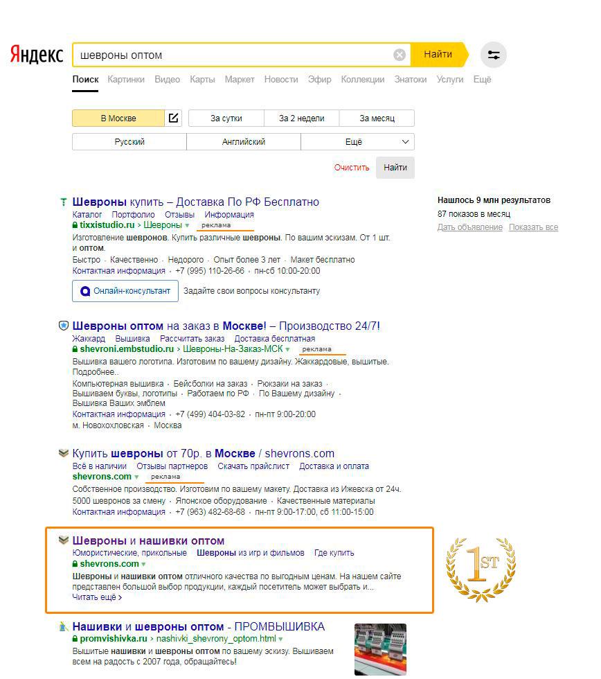 вывод сайта в топ яндекс ГаджиевоГай
